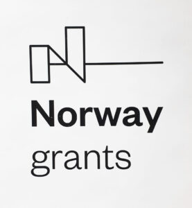 logo with the Norway grants writing