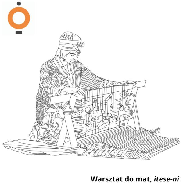Obraz wpisu - grafika, w centrum kontury warsztatu do mat do pokolorowania
