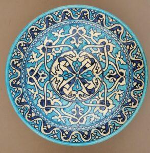 uzbecka misa we wzory z dominującym kolorem błękitnym