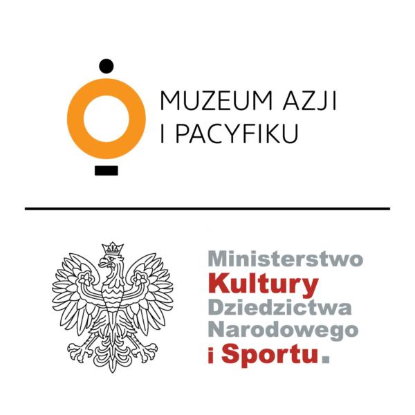 Obraz wpisu - Grafika z logo Muzeum Azji i Pacyfiku oraz Ministerstwa Kultury Dziedzictwa Narodowego i Sportu.
