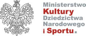 """logo """"Ministerstwo Kultury Dziedzictwa Narodowego i Sportu""""."""